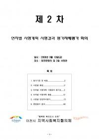 2008년 이천시 지역사회복지계획 시행결과보고서